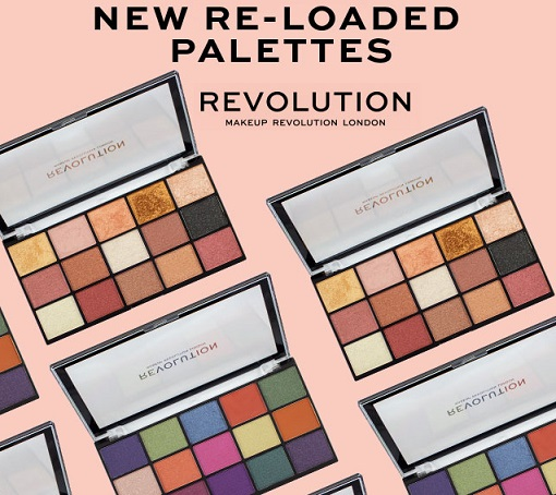 палетки теней revolution makeup re-loaded