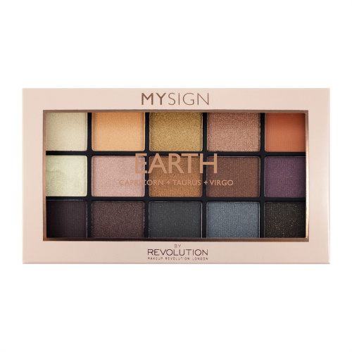 Палетка теней Makeup Revolution My Sign Eyeshadow Palette Earth