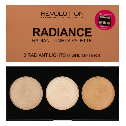 Палетка хайлайтеров Makeup Revolution Highlighter Palette - Radiance