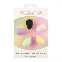 Набор спонжей Makeup Revolution Mini Pro Colour Correct Sponge Set