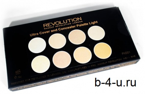 Палетка консилеров Makeup Revolution Ultra Cover and Conceal Palette - Light фото 5