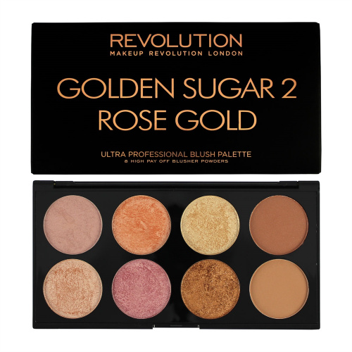 Палетка Makeup Revolution Ultra Palette Golden Sugar 2 Rose Gold