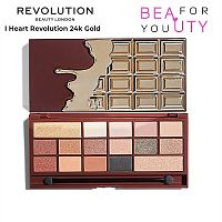 Палетка теней Makeup Revolution 24k Gold
