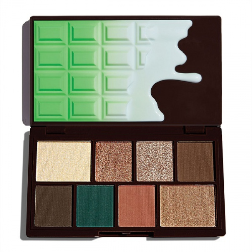 Палетка теней Makeup Revolution Mint Choc Mini Chocolate
