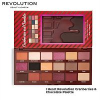 Палетка теней Makeup Revolution Cranberries & Chocolate