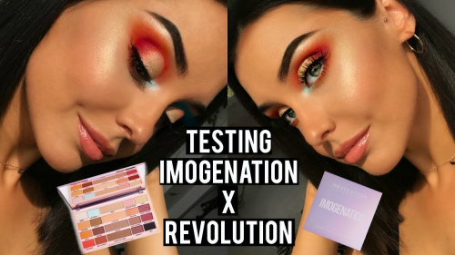 Палетка теней Makeup Revolution X Imogenation The Eyeshadow Palette фото 11