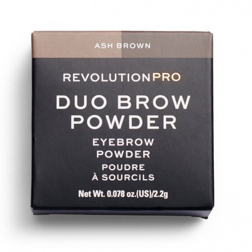 Тени для бровей Revolution PRO Duo Eyebrow Powder Ash Brown фото 3