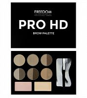 Набор для бровей Freedom Makeup Pro HD Brow Palette - Fair Medium