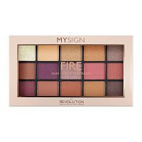 Палетка теней Makeup Revolution My Sign Eyeshadow Palette Fire