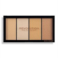 Палетка хайлайтеров Makeup Revolution Reloaded Lustre Lights Warm